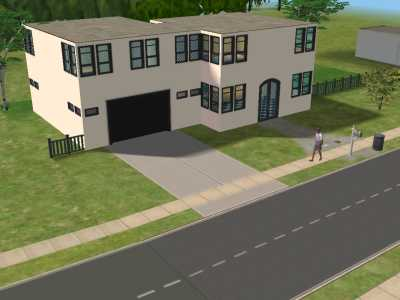 Micville sims 2 fotostories karriere typen for Modernes haus sims 2